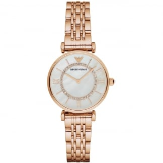 Ladies Rose Gold Plated T-Bar Watch