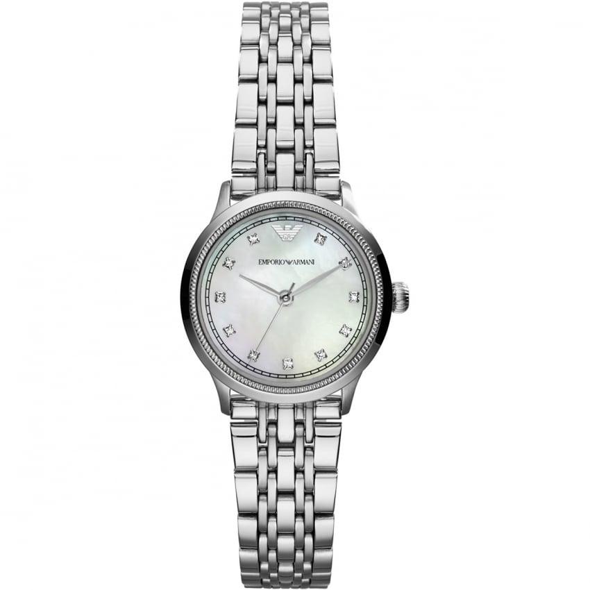 Emporio Armani Ladies Silver Tone Classic Watch AR1803