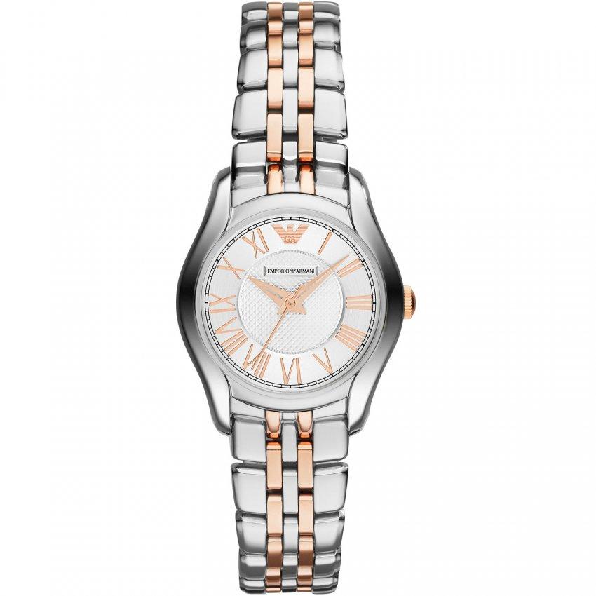 Emporio Armani Ladies Steel & Rose Gold Bracelet Watch AR1825