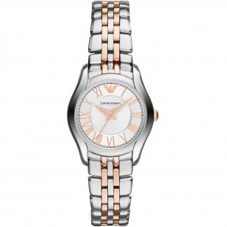 Ladies Steel & Rose Gold Bracelet Watch