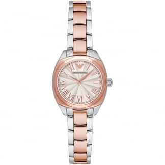 Ladies Steel & Rose Tone Bracelet Watch