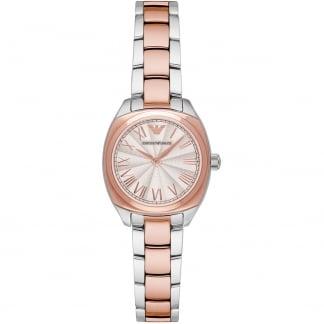 Ladies Steel & Rose Tone Bracelet Watch AR1952