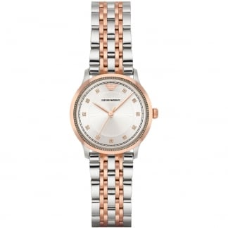 Ladies Stone Set Bi-Colour Bracelet Watch AR1962