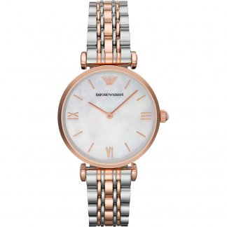 Ladies Two Tone T-Bar Watch