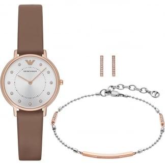 Ladies Watch, Earring and Bracelet Set AR8040