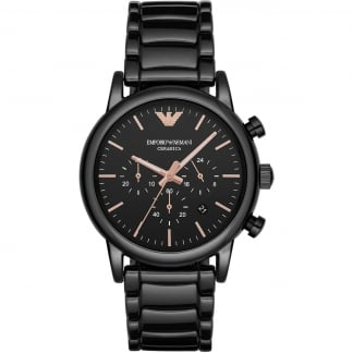 Men's Black Ceramic Chronograph Watch