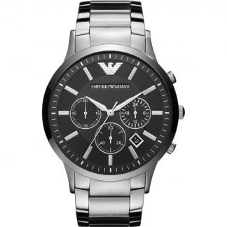 Men's Black Dial Chronograph Watch