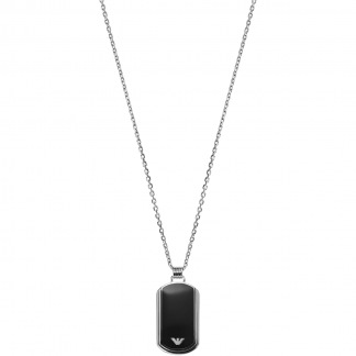 Men's Black DogTag Necklace