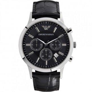 Men's Black Leather Strap Multifuntion Watch AR2447