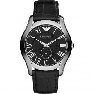 3228307fdf Men's Black Leather Strap Watch · Emporio Armani ...