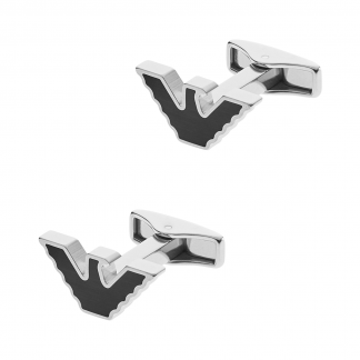Men's Black Logo Cufflinks