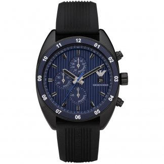 Men's Black Sports Luxe Chronograph Watch