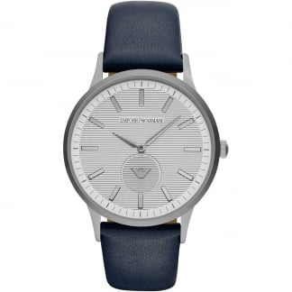 Men's Blue Strap Gunmetal Watch