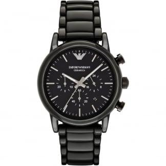 Men's Ceramica Black Ceramic Chronograph Watch AR1507
