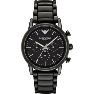 Men's Ceramica Black Chronograph Watch