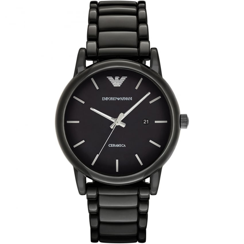 Emporio Armani Men's Ceramica Black Ceramic Bracelet Watch AR1508