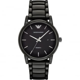 Men's Ceramica Black Ceramic Bracelet Watch AR1508