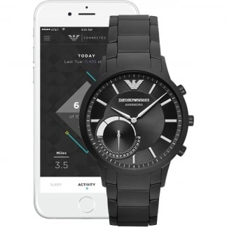 Men's Connected Black IP Hybrid Smartwatch