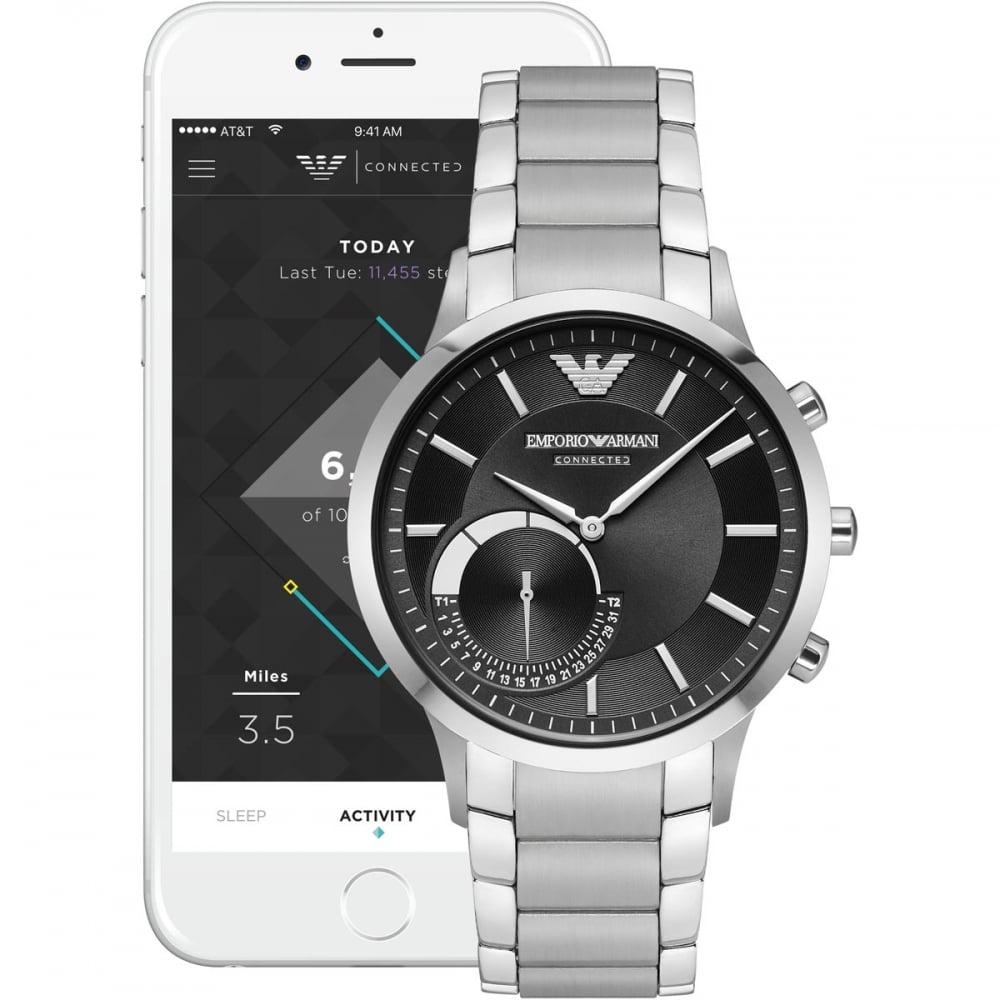 Emporio Armani Men s Connected Bluetooth®Hybrid Smartwatch - Watches ... a0204e7733e