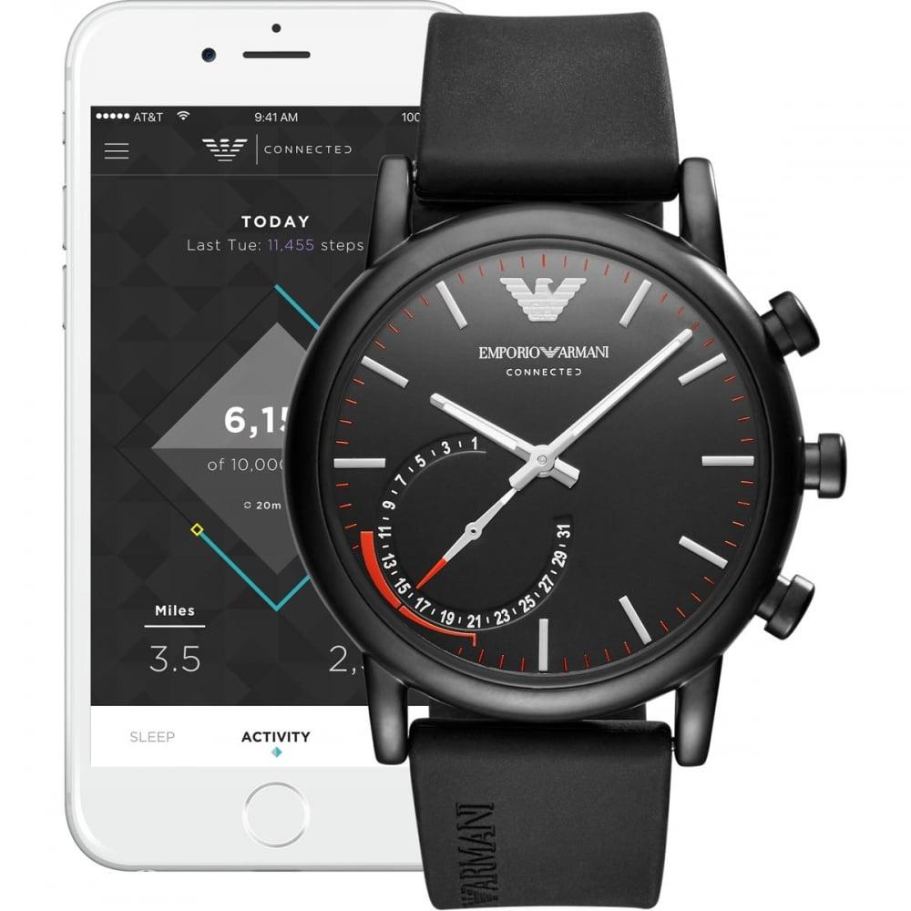 Emporio Armani Men s Luigi Connected Bluetooth® Hybrid Smartwatch ... 1e00ca30aba