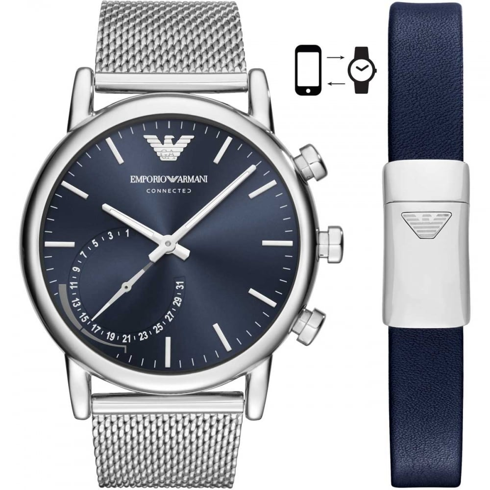 Emporio Armani Men s Connected Mesh Hybrid Smartwatch Product Code  ART9003 b9a453b6e10