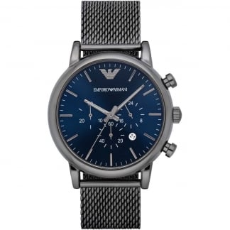 Men's Gunmetal Mesh Chronograph Watch