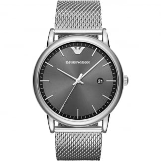 Men's Mesh Bracelet Watch With Grey Dial