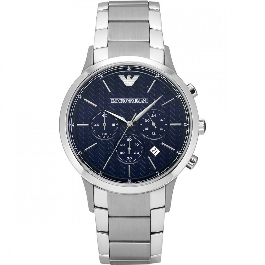 Emporio Armani Men's Blue Chronograph Bracelet Watch AR2486