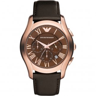 Men's Rose Gold Chronograph Watch