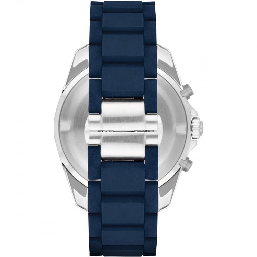 af0018bad3 Emporio Armani Men's Blue Rubber Link Chronograph Watch