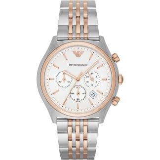 Men's Steel & Rose Gold Chronograph Watch AR1998
