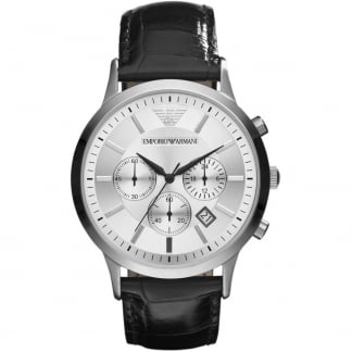 Men's Silver Dial Chronograph Watch