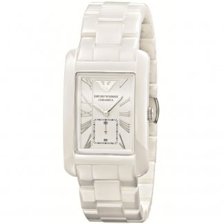 Mid-size White Ceramic Bracelet Watch AR1408