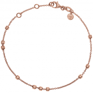 Rose Gold Cube Station Bracelet