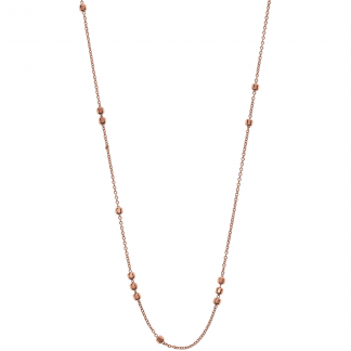 Rose Gold Plated Cube Station Necklace