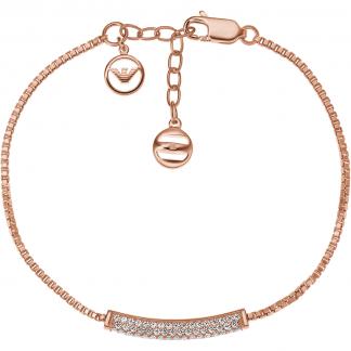 Rose Gold Pure Pave Bar Bracelet