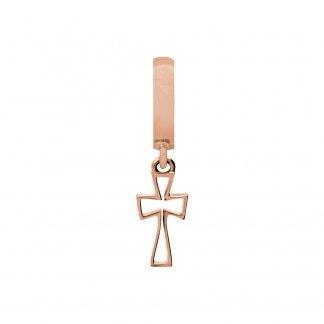 Cross Rose Gold Charm E37253