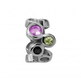 Multi Gemstones Silver Charm E21350