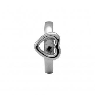 Fallen Heart Silver Charm E21105