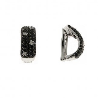 Fantasia Diamond & Black Sapphire Earrings