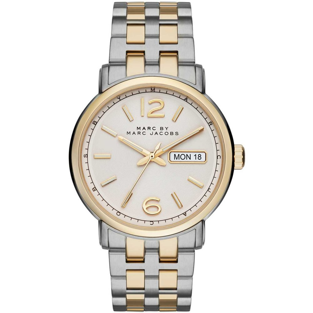 marc jacobs fergus gold and silver tone men s day date watch marc jacobs fergus gold and silver tone men s day date watch mbm5079