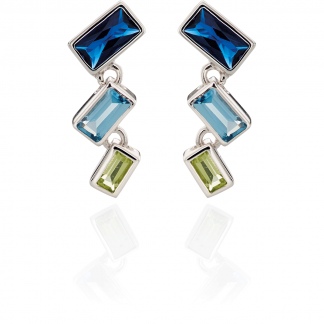 Blue and Green Earring Drops