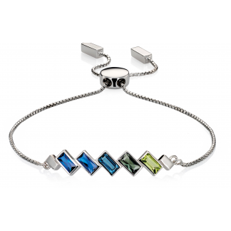 Blue to Green Toggle Bracelet
