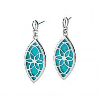 Cut Out Turquoise Marquise Earrings E4803T