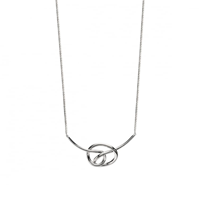 Fiorelli Ladies Silver Knot Necklace N3955