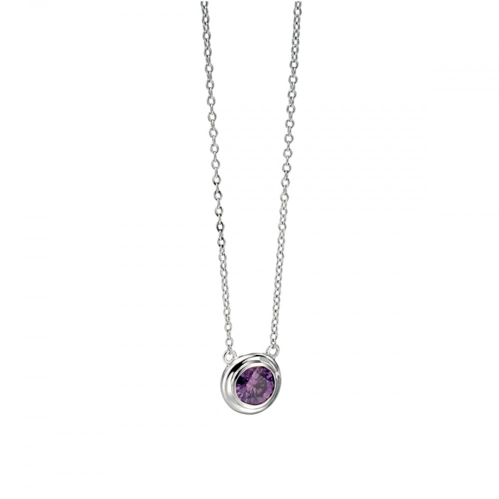 gold necklace forever gallery longline stone faux purple normal product goldpurple in jewelry lyst