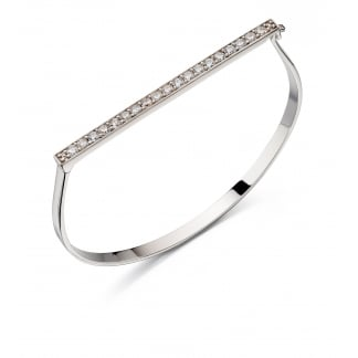 Pave Top Hinged Bangle