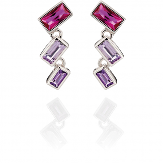 Pink and Purple Earring Drops