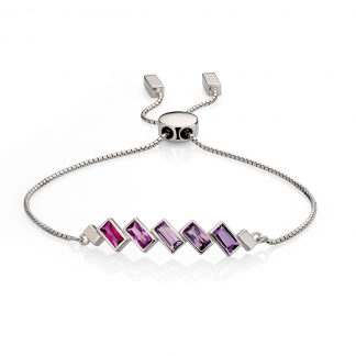 Pink to Purple Toggle Bracelet