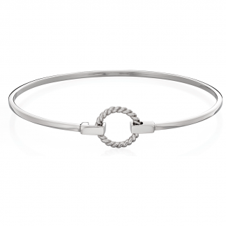 Rope Effect Circle Bangle